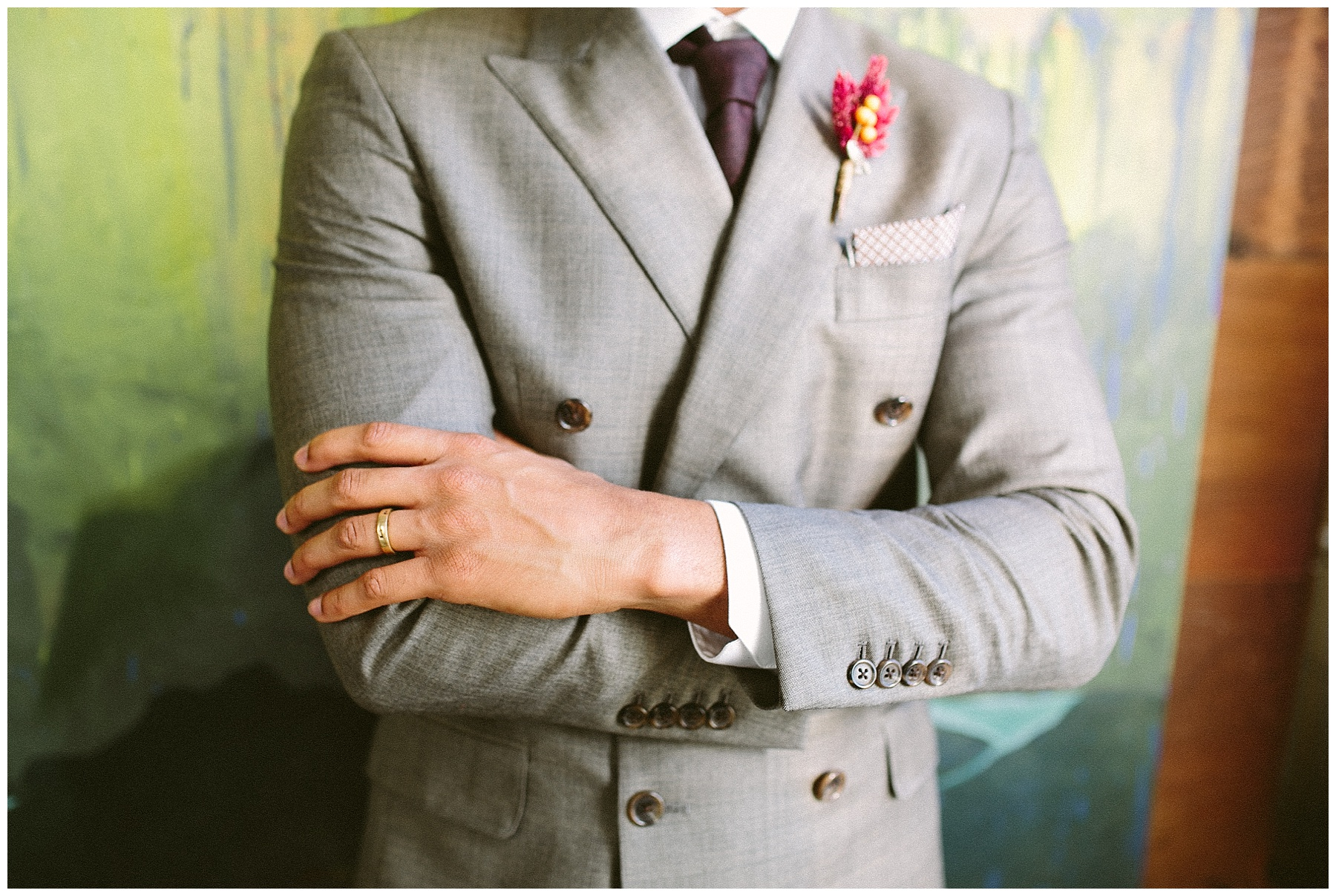 Fall suit for groom