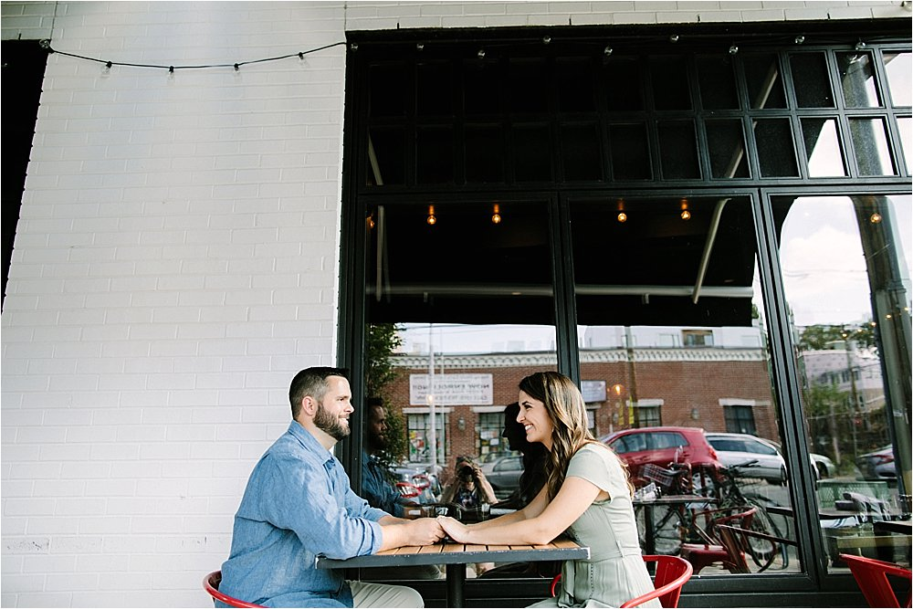 coffee shop engagement Fairmount Philadelphia